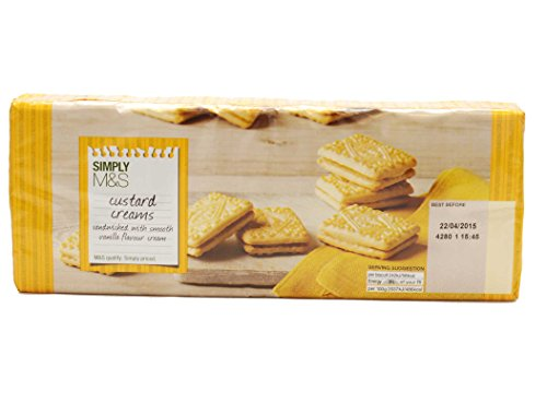 - Marks & Spencer - Simply M&S Custard Cream Biscuits 400g (From the UK)