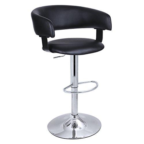Black Adjustable Barstool Chair