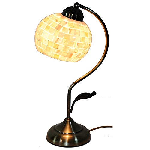 5 Inch Shell Mosaic Table Lamp Lamp Living Room Luxury Living Room European-Style Table Lamp Art Lamp ()