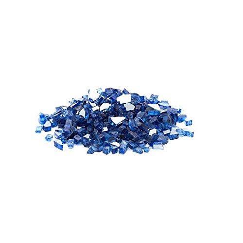 Dragon Glass 1/4'' Reflective Fire Glass, 25 lb, Cobalt Blue