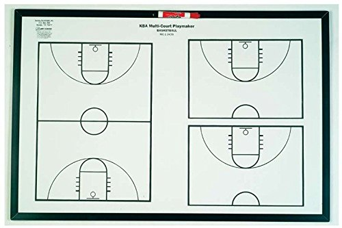 KBA Multi-Court Playmaker Basketball Coaching Board, 24'' x 36''