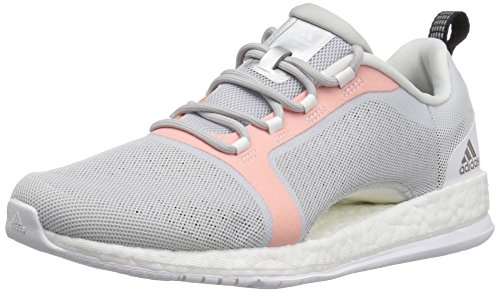 (adidas Women's Pure Boost X TR 2 Cross-Trainer Shoes, Light Grey/Black/Easy Orange, ((9 M US))