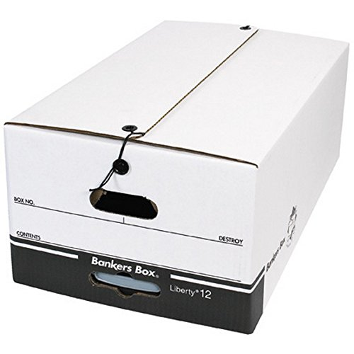 Bankers Box FSB680 String and Button File Storage Boxes, 24'' x 15'' x 10 1/2'' (Pack of 12)