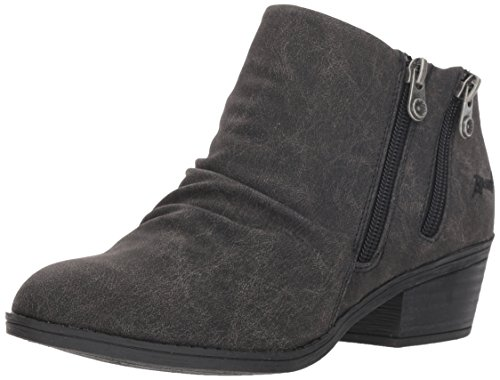 Blowfish Women's Storz Ankle Boot, Black Spindal Polyurethane, 8.5 M US