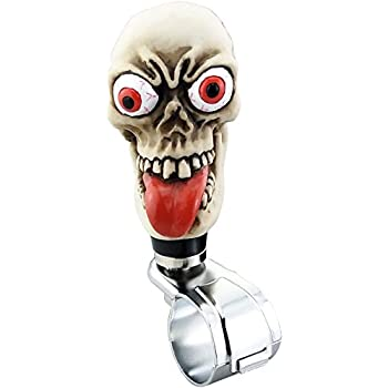 Amazon.com: Lensuntom LUNSOM Skull Steering Wheel Spinner ...