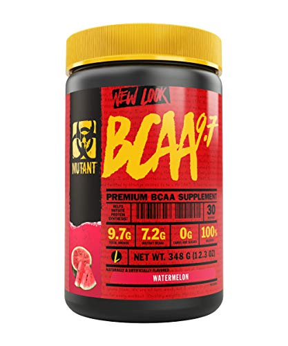 MUTANT BCAA Powder 9.7, Branched Chain Amino Acids with L-Arginine & Electrolytes for Muscle Building and Nitric Oxide Enhancement, Watermelon, 30 Servings