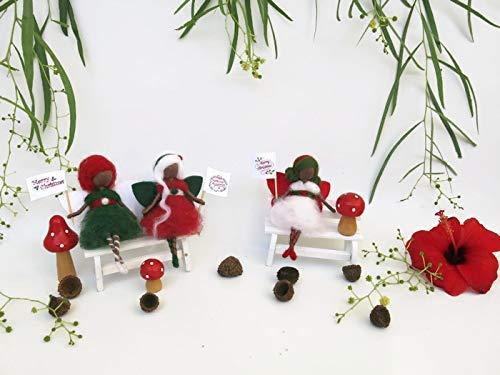 Christmas Ornaments - Christmas Fairies Set - Amazon.com: Christmas Ornaments - Christmas Fairies Set: Handmade