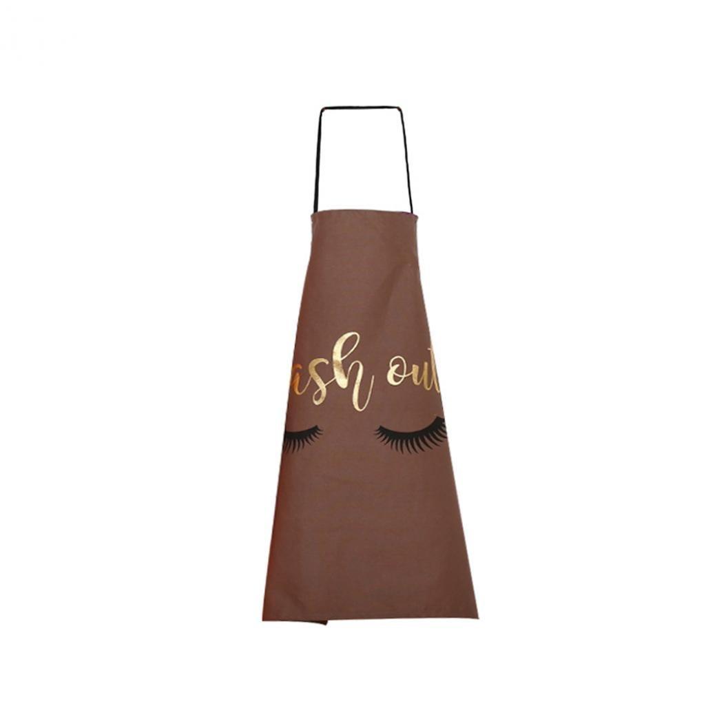 good01 Unisex Lovely Household Cooking Kitchen Cotton Apron Eyelash Pattern Cook Wear (Black) ASKFDSBJF326