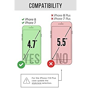 ZVE Case for Apple iPhone 8 and iPhone 7, 4.7 inch, Leather Wallet Case with Credit Card Holder Slot Zipper Wallet Pocket Purse Handbag Wrist Strap Protective Cover for Apple iPhone 8/7 - Rose