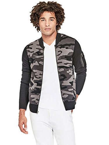 hot G by GUESS Men's hedi Knit Camo Bomber Jacket hot sale