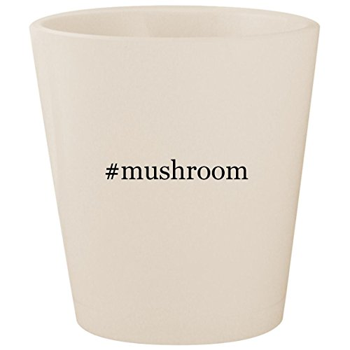 Portabella Mushroom Pasta (#mushroom - White Hashtag Ceramic 1.5oz Shot Glass)