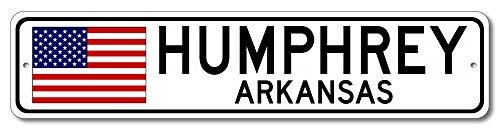New Humphreys Corner - The Lizton Sign Shop Humphrey, Arkansas Aluminum America Flag Sign, USA Custom Flag Sign - 9