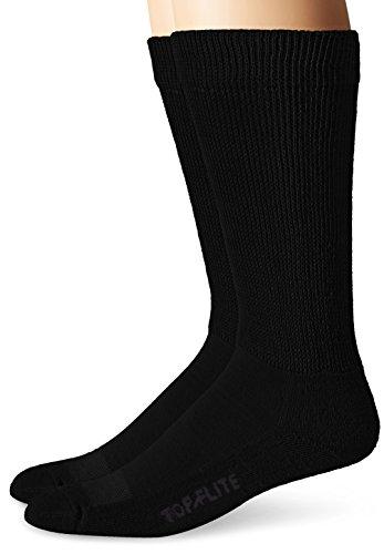 Mens Diabetic Loose Top - Top Flight Men's Diabetic Non-Binding Mid-Calf Socks 2 Pack