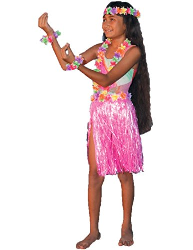 [Child Hula Set (Pink)] (Pretty In Pink Costumes)
