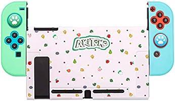 【最新デザイン】Nintendo switchカバー スイッチケース 5点セット PCハードケース 薄型 軽量 Joy-Conカバー アナログスティックカバー 肉球カバー 分体式 全面保護ケース 耐久性 耐衝撃 キズ防止 衝撃吸収 着脱簡単 指紋防止