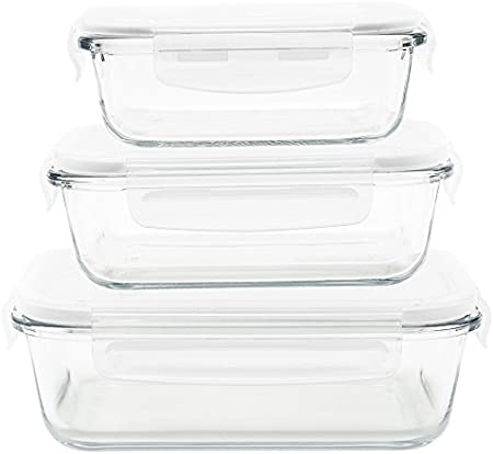 Oferta amazon: Pebbly pkv-3srb Set de 3bandejas/Cajas Rectangular (Cristal Transparente, 21x 15, 5x 15cm
