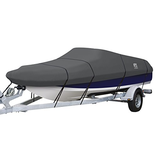 Classic Accessories StormPro Heavy Duty Blunt Nose/Deck Boat Cover, For 22'-24' Long, Up to 116