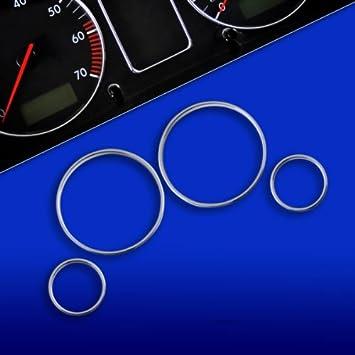 Aros de marcador cromados arillos embellecedores para tacómetro cuentakilómetros cromo: Amazon.es: Coche y moto