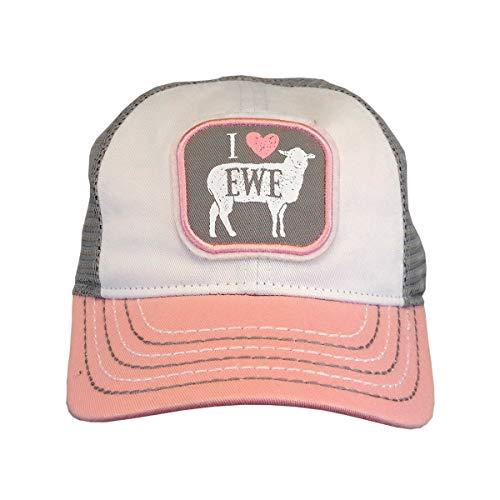 John Deere Toddler I Love Ewe Cap-Dusty Rose-Os