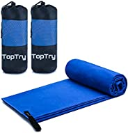 2 Pack Microfiber Sports Towels, Super Absorbent Gym Towel, Dry Fast, Soft Lightweight Swimming Towel, Perfect