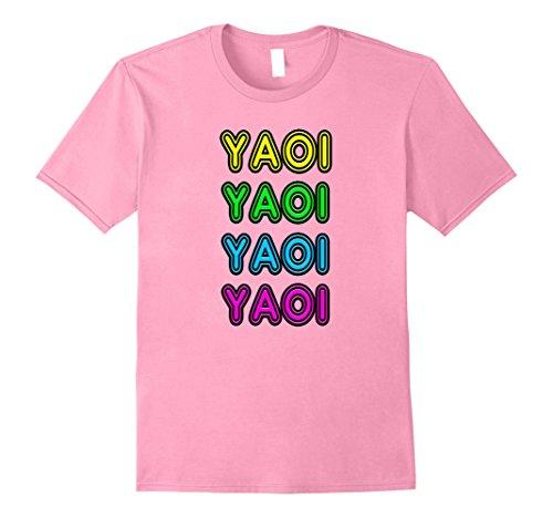 A/t Shift (Mens Retro 80's Vintage Neon Anime Sign Yaoi Gift T-Shift Medium Pink)