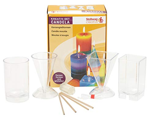 Square Top Rectangular Tapered /& Pillar Candle Moulds Molds S7699 Set x 2