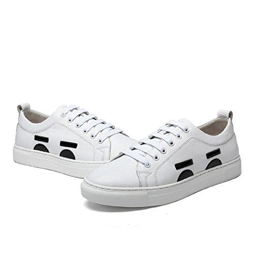 Kameel Heren Lederen Skate Schoenen Wit