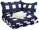 Oversized King Bed in a Bag AmazonBasics Bed-in-a-Bag - Soft, Easy-Wash Microfiber - 8-Piece King, Navy Oversized Gingham