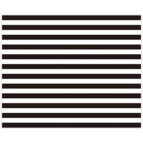 Allenjoy 10x8ft Fabric Black and White Stripes Backdrop for Birthday Wedding Party Dessert Table Decor Studio Photography Pictures DIY Photo Booth Striped Banner Background Baby Bridal Shower Newborn (Black White Photo)