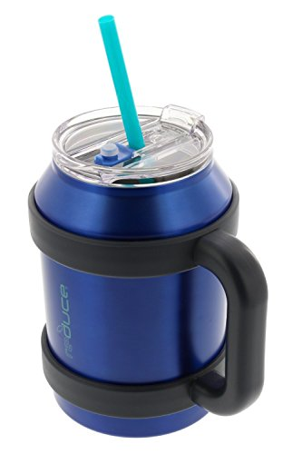 Reduce Cold-1 Tumbler, 50oz Large Stainless Steel Tumbler With Straw - Perfect for Hot & Cold Drinks - Insulated Coffee Mug - Dual Wall Vacuum Insulated - Leak-Proof Lid and Handle - Blue