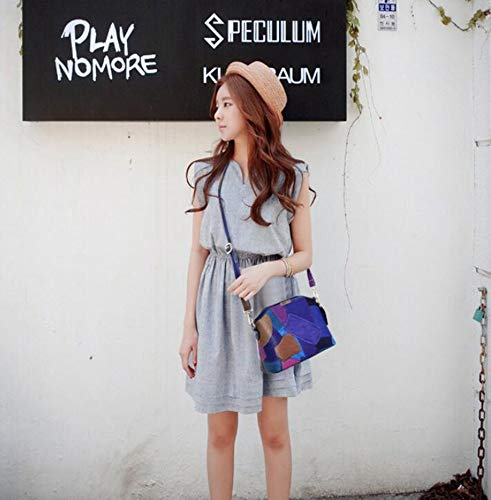 Handbag Female Shoulder Bag Lady Hongge Color PU Fashion Bag E Hundred Stitching Messenger Bag lap qzSzEA