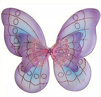 Cutie Collections Purple Butterfly Costume Dress-up Wings,One - Fairy Wings Jeweled Princess