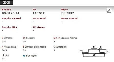 Brembo delantera Kit discos de freno p23087 Pastillas Brembo 09.4939.34/