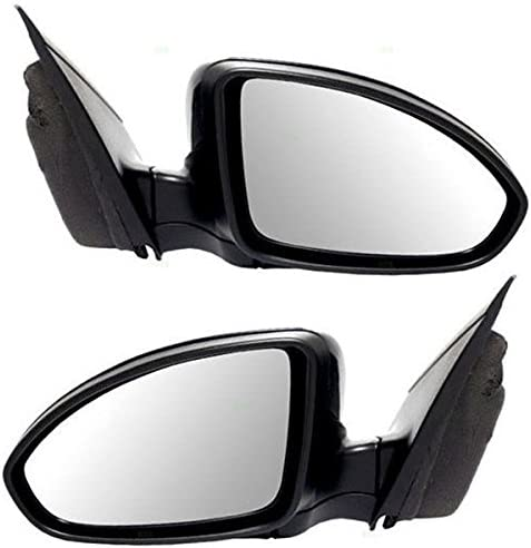 New Left//Driver Side Non-heated Door Mirror Textured Black for Ford F150 11-14