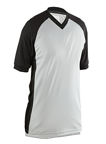 Adams USA Smitty Performance Mesh Side Panel V-Neck Referee Shirt (Gray, XX-Large) -