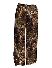 Star Wars Chewbacca Chewie Faces Adult Pants, Large