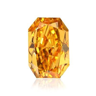 0.79 Carat Fancy Vivid Orange Loose Diamond Natural Color Radiant Cut GIA Cert