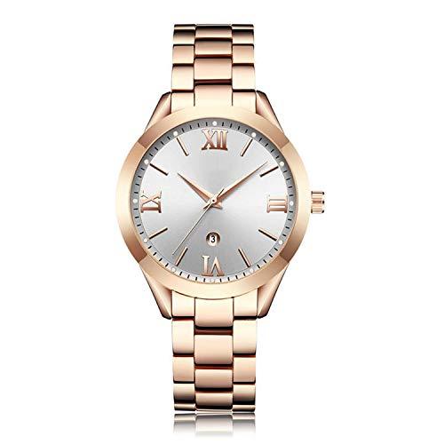 Gold Watch Women Watches Ladies Steel Women's Bracelet Watches Female Clock Relogio Feminino Montre Femme,Rose Gold ()
