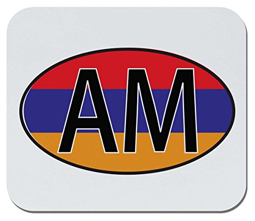 (Makoroni - Armenia Flag Sticker World Flags Country Nations - Non-Slip Rubber Mousepad, Gaming Office Mousepad)