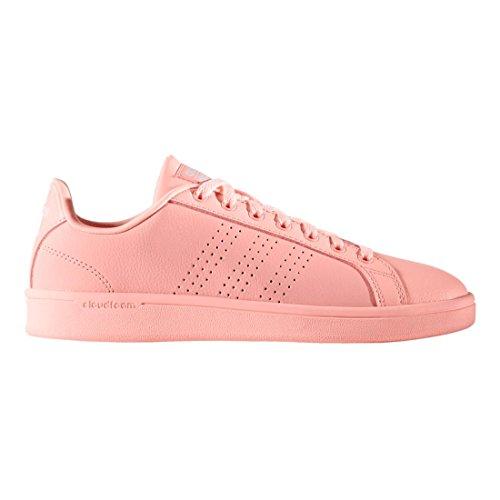 adidas neo cloudfoam advantage stripe women's shoes rose gold