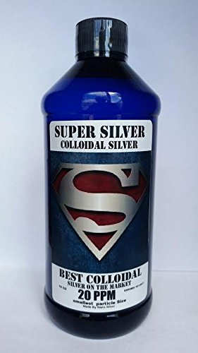 Super Silver Colloidal Silver - Silver Mineral Supplement 20 PPM 16 OZ Colloidal Silver Liquid