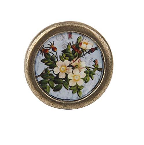 - Antique Brass Cabinet Door Drawer Cupboard Pull Handle Knob Hardware Flowers