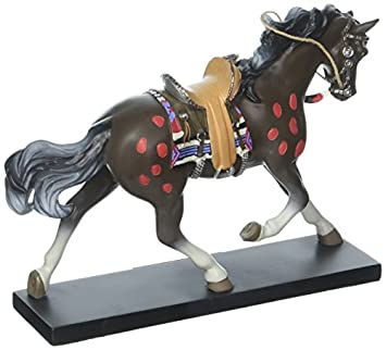 Enesco Trail of Painted Ponies Navajo Chief Stone Resin Horse Figurine, 6.5