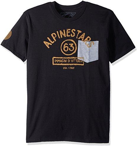 Alpinestars Mens Modern Fit Short Sleeves Light Weight Premium Pocket T-Shirt
