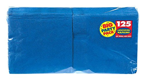 Amscan Bright Royal Blue Luncheon Napkins Big Party Pack, 6 Pks