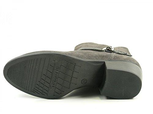 Tamaris 25010 - Botines Mujer Grau (Anthracite/Blk)