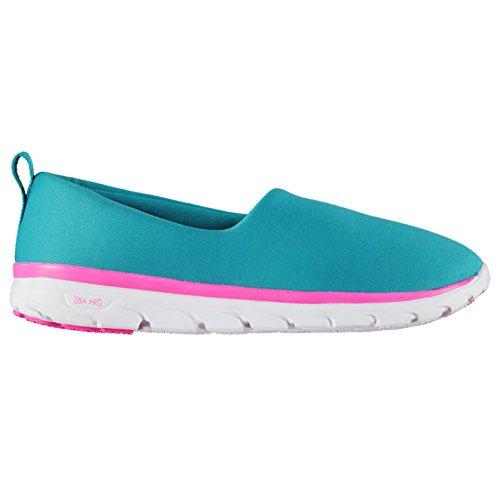 USA Pro Kinder Iolite Slip On Mädchen Turnschuhe Blau/Pink