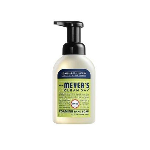Mrs. Meyer's Clean Day Foaming Hand Soap, Lemon Verbena, 10 Oz (Pack of 6) ()