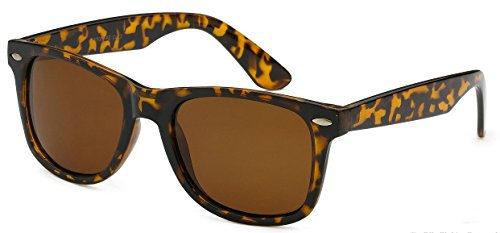 Sunglasses Classic 80's Vintage Style Design (Tortoise Brown, - Brown Tortoise