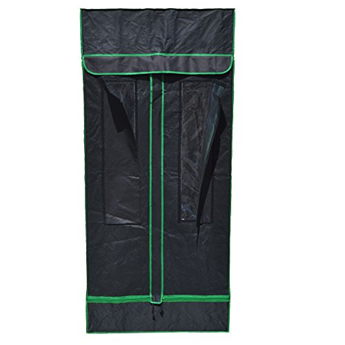 Solar Hut 31x31x71 Reflective Mylar Hydroponic Grow Tent for Indoor Plant Growing SHGT80